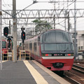 Photos: 【ネガ】名鉄特急 岐阜行き 後追いズーミング