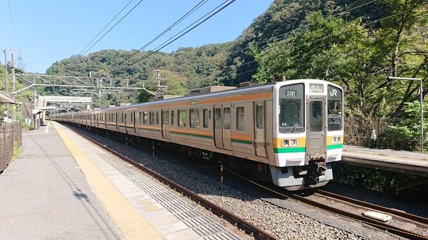 古虎渓駅にて