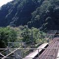 【ポジ】古虎渓駅 跨線橋から名古屋方を望む