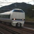 【ネガ】新疋田駅 683系通過