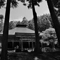 写真: 黒石寺(モノクロ)