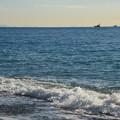 写真: 海は・・・