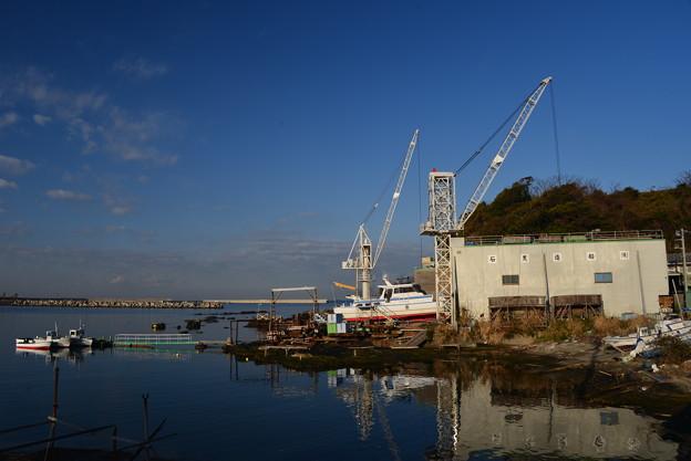 造船所のある風景