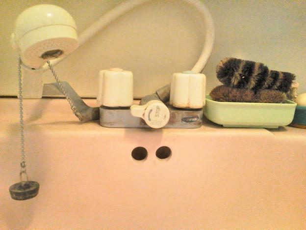 洗面 水垢クリーナー 混合栓交換