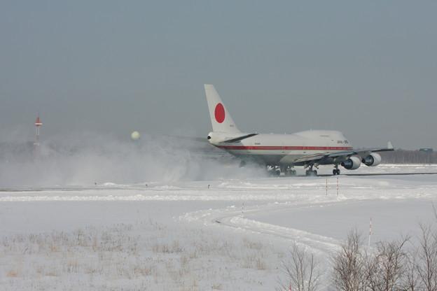B747-47C 20-1101 Rwy36 takeoff 2013.01