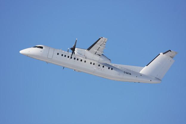 DHC-8-300 C-GXYA 真っ白な機体