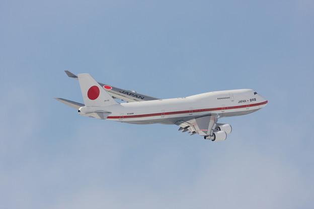 Photos: B747 シグナス 01R Take off