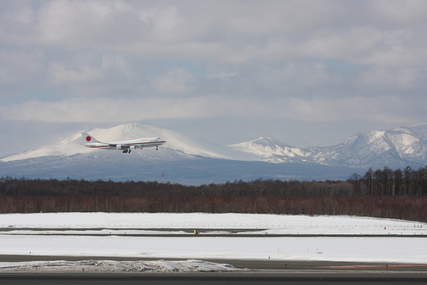 Photos: B747 シグナス 36R approach