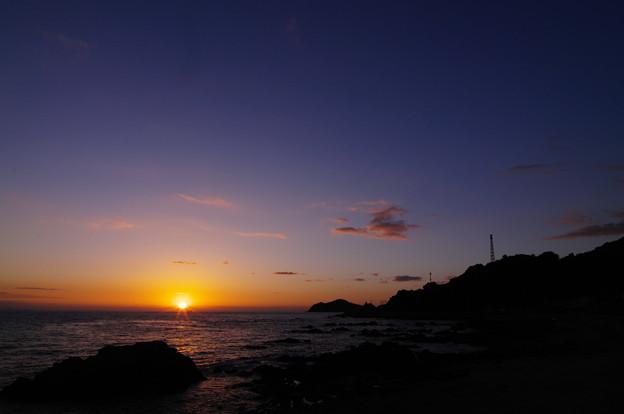 伊保木海岸の夕陽