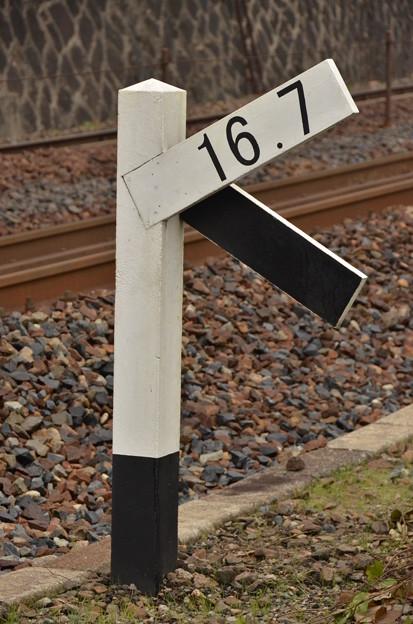 セノハチ 16.7 勾配標識