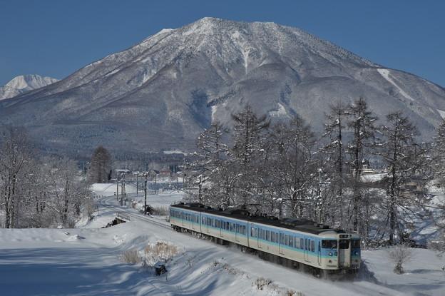 白銀世界の黒姫山