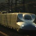 Photos: 輝くN700(山陽新幹線大津トンネル)