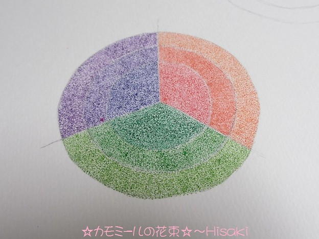 色の混ぜ合わせの練習