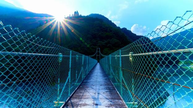 大洞川吊り橋中間
