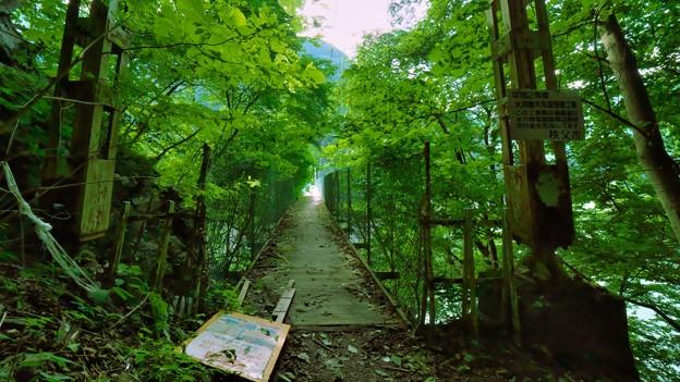 大洞川吊り橋入口