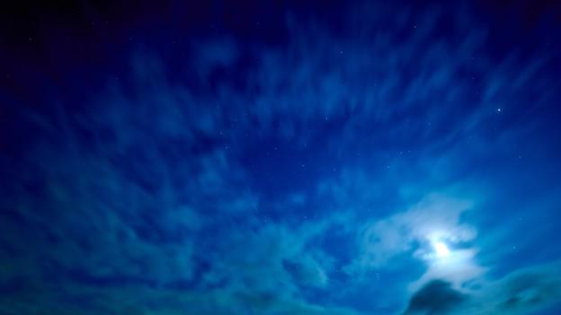 雲から見えた星空