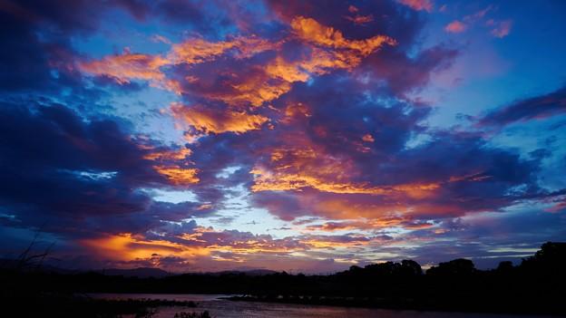 Photos: 荒川の夕焼け