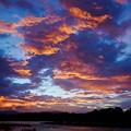 荒川の夕焼け