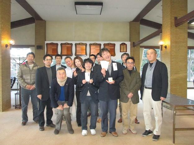 足利カントリークラブの佐野市長杯表彰式終了後のアシカンファミリーの皆さん2014.1.19