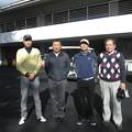Photos: 足利城ゴルフ倶楽部忘年コンペに参加した、幹事・松さん・親さん・澁さん2013.12.12