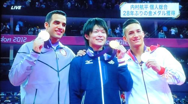 体操男子個人総合内村航平28年ぶりの金メダル