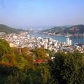 千光寺境内からの眺め~左上の浄土寺山山頂に展望台がある~