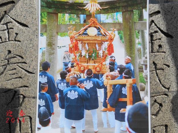 迎春2014初詣・八幡さんの祭りだワッショイー♪