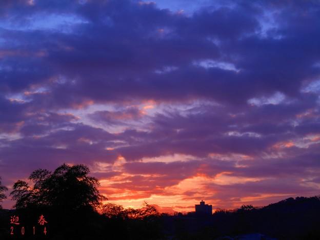 写真: 迎春2014七草の日の日の出 in 瀬戸内・千光寺山