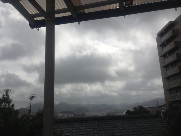 台風15号接近中