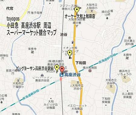 小田急 高座渋谷駅 sm map-250328