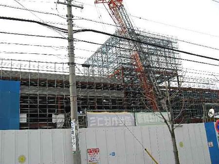 バロー豊橋前田店 (仮称)2007年春開業予定で建設中-190125-1