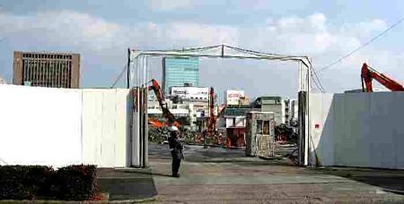マックスバリュ太閤店 平成19年開業 建設へ向け JR病院取壊中-190214-1