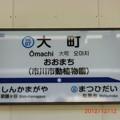 北総鉄道大町駅駅名看板