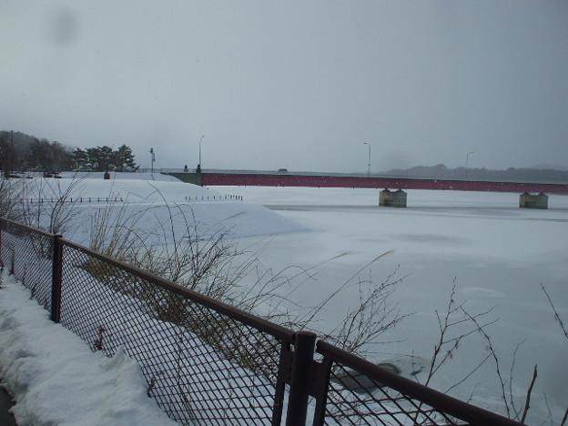 盛岡市 御所湖の湖面