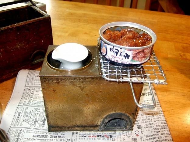 燗銅壺 缶詰を肴に一杯