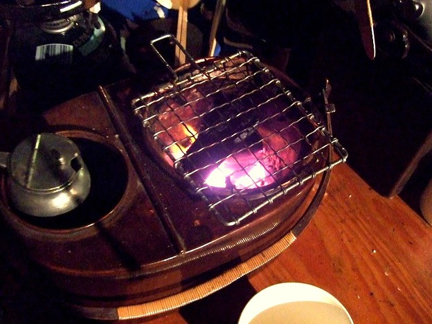 燗銅壺 炭火 燗酒