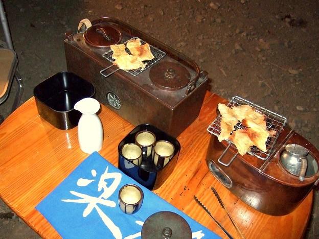 燗銅壺 キャンプで使う