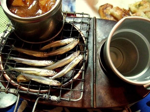 燗銅壺でホームパーティー ワカサギ料理