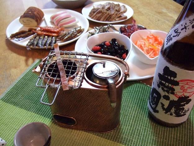 正月の燗銅壺