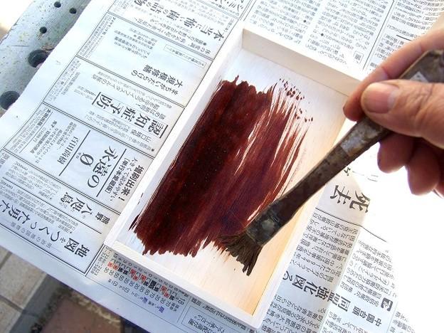 オイルステインを塗る まずは内側