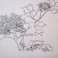 燗銅壺 謎の花模様