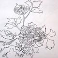 燗銅壺に謎の花模様