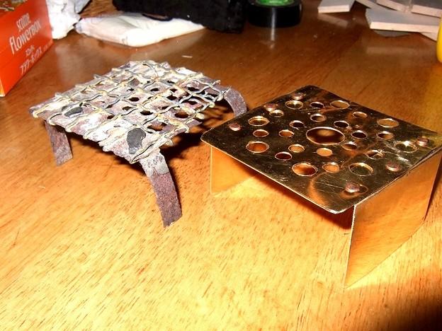燗銅壺「蒼龍」の正方形ロストルの作り直し
