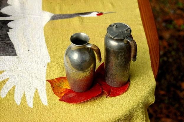 燗銅壺に錫のチロリ2本