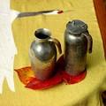 Photos: 燗銅壺に錫のチロリ2本