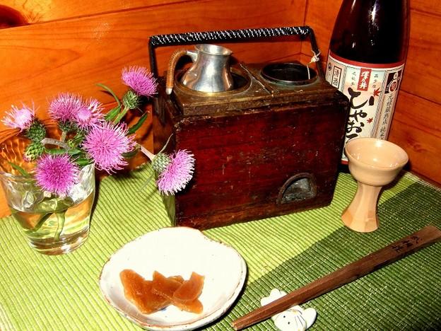 アザミ酒 ときがわの林道に咲いていたアザミ