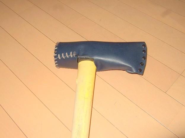 斧 革カバー製作 4