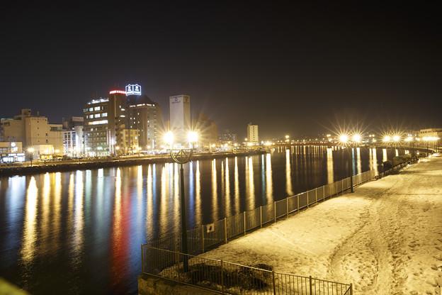 釧路川の夜景