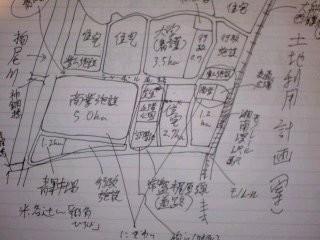 深沢地区土地利用計画案。