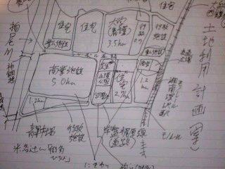 写真: 深沢地区土地利用計画案。